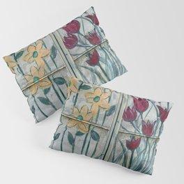 Yellow Tulips Red Daisies FLIP Pillow Sham
