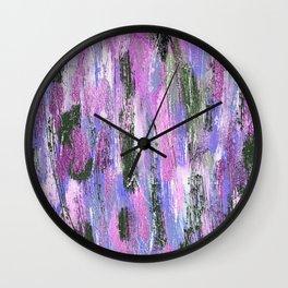 Abstract Brushstrokes Wall Clock
