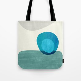 Stacking Pebbles Blue Tote Bag