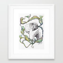 the nature of the camera Framed Art Print