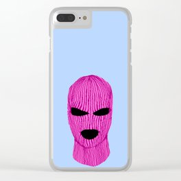 Pink Creep Clear iPhone Case