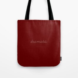 dramatic woman Tote Bag