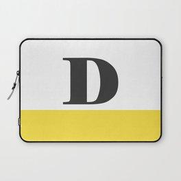 Monogram Letter D-Pantone-Buttercup Laptop Sleeve