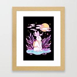 Plant Jackalope // Black Framed Art Print