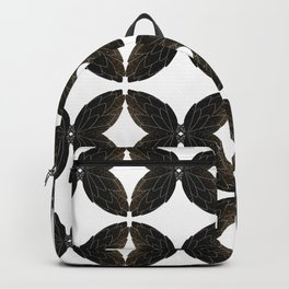 Many golden and black butterflies Backpack