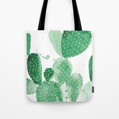 Green Paddle Cactus Tote Bag