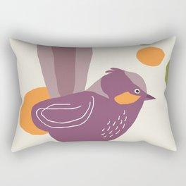 Quirky Superb Fairywren Rectangular Pillow