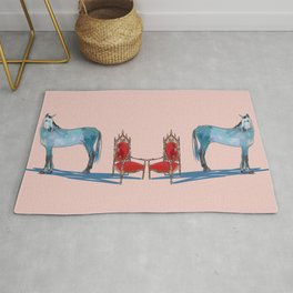 animals with chairs #1 The argument Rug