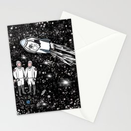 Astronauts Robert Behnken Douglas Hurley Nasa SpaceX Crew Dragon. Space Race 2020 by Maru Stationery Cards