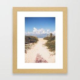 The Beach Path Framed Art Print