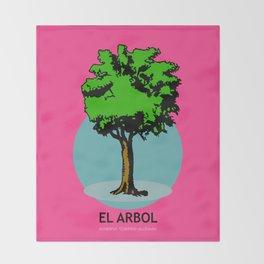 El Arbol Mexican Loteria Card Throw Blanket