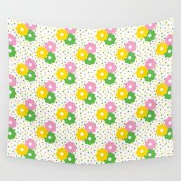 60s Ditsy Daisies + Dots Wall Tapestry