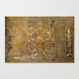 Wat Pho Thai Massage Accupressure Illustration Canvas Print
