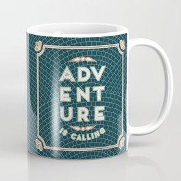 Adventure is Calling Mosaic – Mint & Teal Palette Coffee Mug