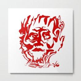 face5 red Metal Print