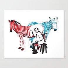 Zebra Painter print Canvas Print