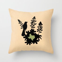 Texas - State Papercut Print Throw Pillow