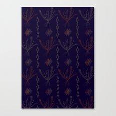 Purple Weeds Canvas Print