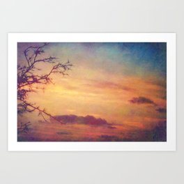 Eternity - Painterly Sunset Sky Art Print