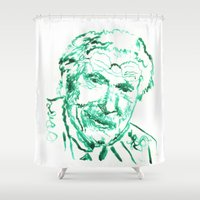 psychology Shower Curtains featuring Carl Jung by echoes