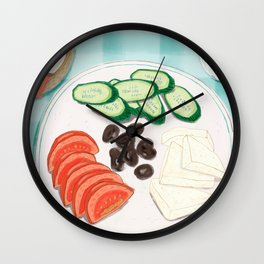 Fresh Home-cooked Turkish Breakfast Wall Clock