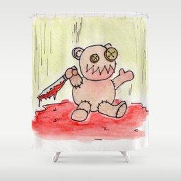 Evil Teddy Bear Shower Curtain
