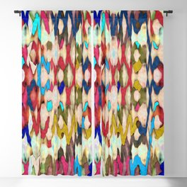 Mind Over Matter Multicolored Abstract Blackout Curtain