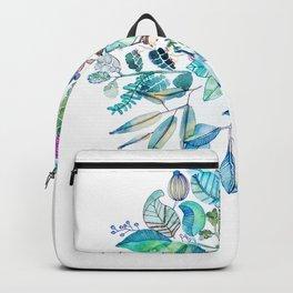 Botanical Mandala Watercolor Painting Backpack