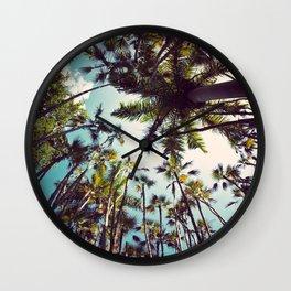 Many Palms. Wall Clock