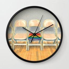 Rainbow Chair Wall Clock