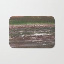 Dark liver abstract watercolor Bath Mat