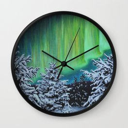Northern Lights, Algonquin Park Wall Clock