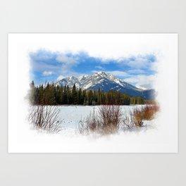 Scenic Cascade Mountain - Banff Alberta Art Print