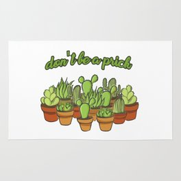 Cactus - Dont be a prick Rug
