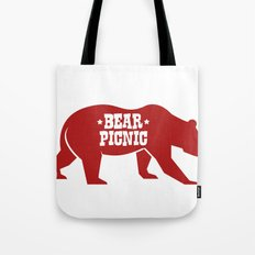 Bear Silhouette  Tote Bag