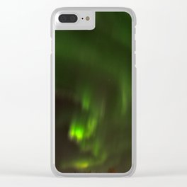 Northern lights in the North of Sweden Clear iPhone Case