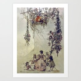 """The Fairies Ascent"" by A. Duncan Carse Art Print"