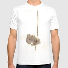 Feathered Grass White MEDIUM Mens Fitted Tee