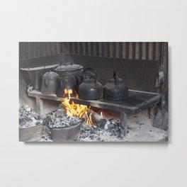 Camp oven Metal Print