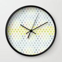 polka dots Wall Clocks featuring Polka dots by Selkiesong