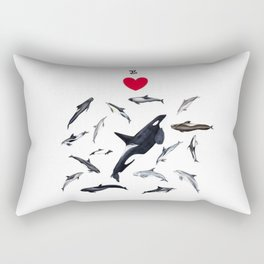 I love dolphins Rectangular Pillow