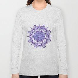 Purple Mandala Long Sleeve T-shirt