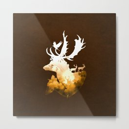 Deer Autumn Metal Print