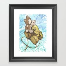 Teddy Bear Roadtrip Framed Art Print