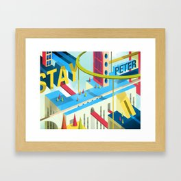 STAY PETER Town Framed Art Print