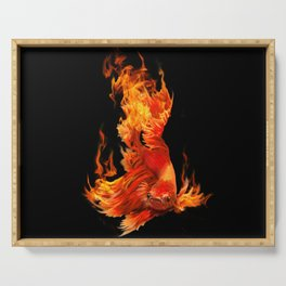 Figtin Fish on Fire Serving Tray