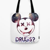 mouse Tote Bags featuring mouse by jeff'walker