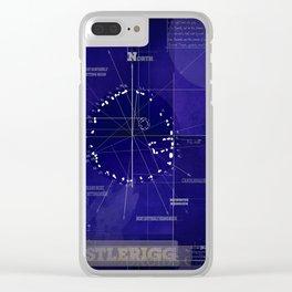 Druids Circle, Castlerigg, Keswick, Cumbria blueprint Clear iPhone Case