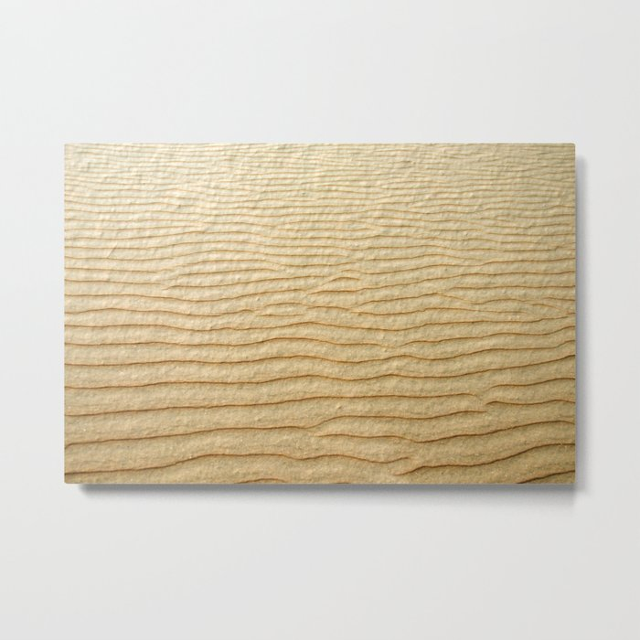 NATURAL SAND ART Metal Print