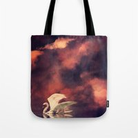 swan Tote Bags featuring Swan by MikakoskArts